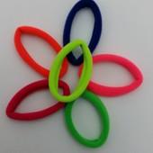 Яркие резинки для волос, 6 цветов