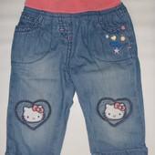 джинсы на подкладке на 3-6-9 мес