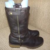 кожаные сапоги 24.5 см
