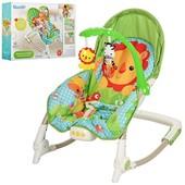Шезлонг качалка Бемби 3245 детский с вибро режимом Bambi кресло 3246 3247