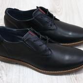 Туфли на шнурках кожа и замша Hilfiger