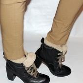 Ботинки 39 p. Manas design, Германия, кожа, оригинал. зима.