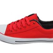 Кеды женские Ideal 252 красные (реплика)