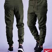 Стильные брюки (синий, черный, хаки)