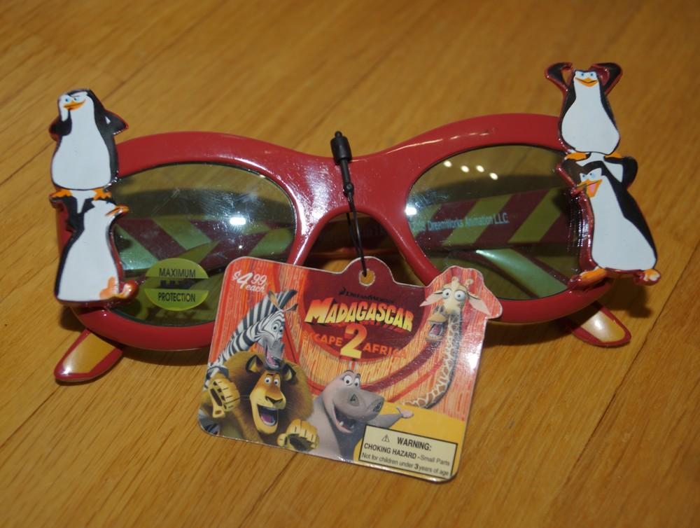 Новые очки Madagascar 2 фото №1