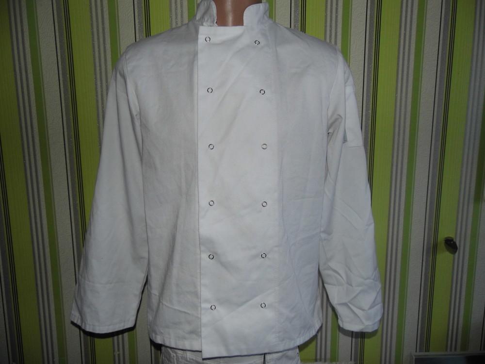 Рабочая одежда шеф-повара мужская рубашка с длинным рукавом/униформа шеф-повара - Whites - 42/44 фото №1