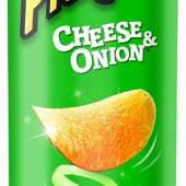 чипсы Pringles, 165 грам,сыр+лук