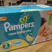 Подгузники Pampers Active baby-dry 2 100 памперс актив беби