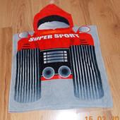 Красивое пляжное полотенце для мальчика 2-4 года