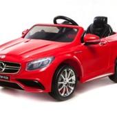 Электро автомобиль Mercedes S63 amg красная легковая 6v7ah T-799