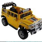 Электро автомобиль желтый джип на р. у. 2 6v10ah с mp3 T-7814