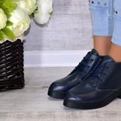 Женские ботинки из натуральной кожи  демисезон