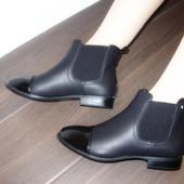 Ботинки с резинкой лаковый носок Н5049