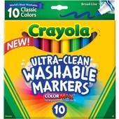 10 смываемых широких маркеров Crayola фломастеры