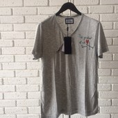 Мужская футболка серая L xl
