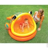 Удобный бассейн с крышей для малышей от 1 до 3 лет. Intex Рыбка