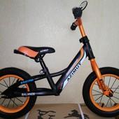 Детский беговел Balance 12,14,16 черный-оранжевый, Crosser Balans