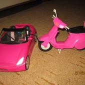 Машина и мотоцикл для куклы