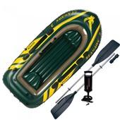 Лодка трехместная с набором весла насос 295 137 43см Интекс Intex 68380