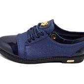 Стильные женские туфли Mengfu 171 синие