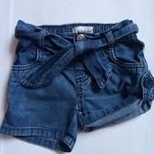 джинсовые шорты для девочки 9-12 мес early days