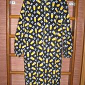 Пижама флисовая, мужская, размер L рост до 185 см, пушистый флис