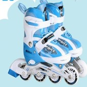 Детские ролики №806 (M) pu 4 led Babyhit Китай синий 12115435