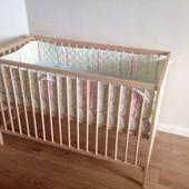 Детская кроватка из бука Sniglar Ikea Сниглар икеа