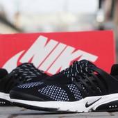 Кроссовки Nike Air Presto  сітка чорно білі