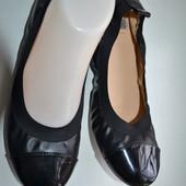Итальянские кожаные балетки Bata 37-38р.