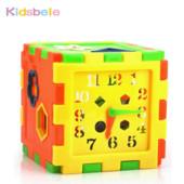"""Набор игрушек """"Разноцветный куб-часики"""", новый"""