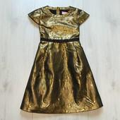 Шикарное нарядное золотое платье для изысканной леди. Cool Candy. Размер 8-9 лет
