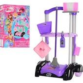 Игровой набор для уборки Winx Волшебные помощницы, wx0009ur, 7 предметов, тележка веник совок пылесо