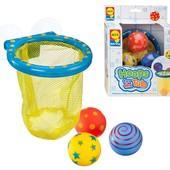 Набор для игры в ванной «Цветные мячики», Alex 694 (сша) баскетбольная корзина + 3 мяча, для купания