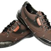 Мужские кроссовки коричнево цвета демисезонные (ПТ 20к)