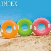 Круг надувной 76см с ручками 3цвета 59258 Интекс Intex