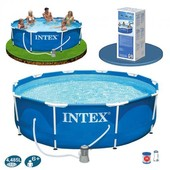 Каркасный бассейн Intex 28202 Metal Frame Pool (305-76см)