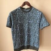 Мужская футболка синяя XL