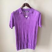 Мужская футболка фиолет S