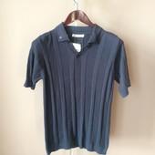 Мужская футболка синяя S