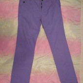 Модные мужские сиреневые брюки-чиносы Tom Tailor размер 48-50, высокий рост