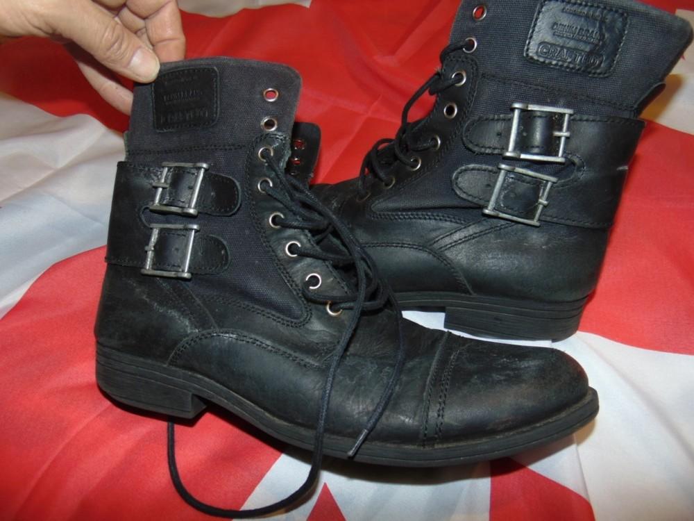 Стильние брендовие кожание  ботинки сапоги  Crafted denim.43 фото №1