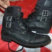 Стильние брендовие кожание  ботинки сапоги  Crafted denim.43