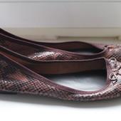 Женские кожаные балетки р.40-41 стелька 26,5 см