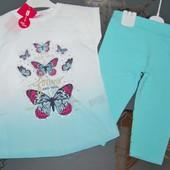 Летний костюм комплект бабочки шифон 3 года