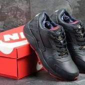 Зимние мужские кроссовки Nike Huarache blue/red