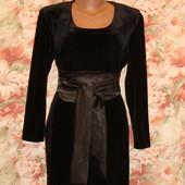 Маленькое черное платье, вечернее, бархатное р.8-12