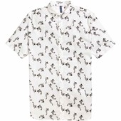 Рубашка из хлопка с рисунком Н&М, S