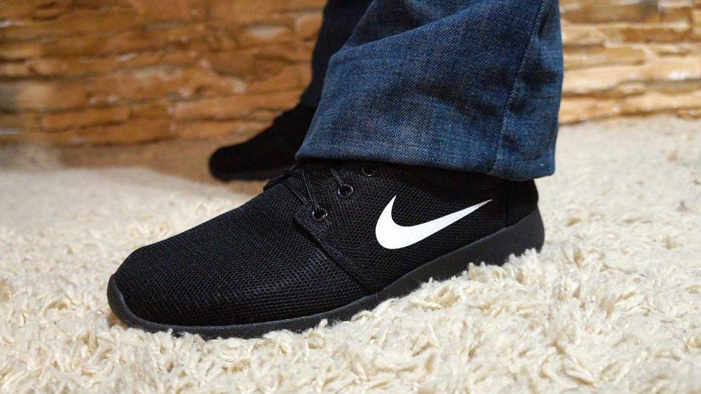 Кроссовки черный, мужские. Значок (Nike) Найк фото №1