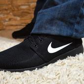 Кроссовки черный, мужские. Значок (Nike) Найк